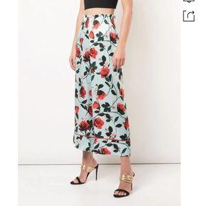 NEW Alice & Olivia silk floral high waist pants